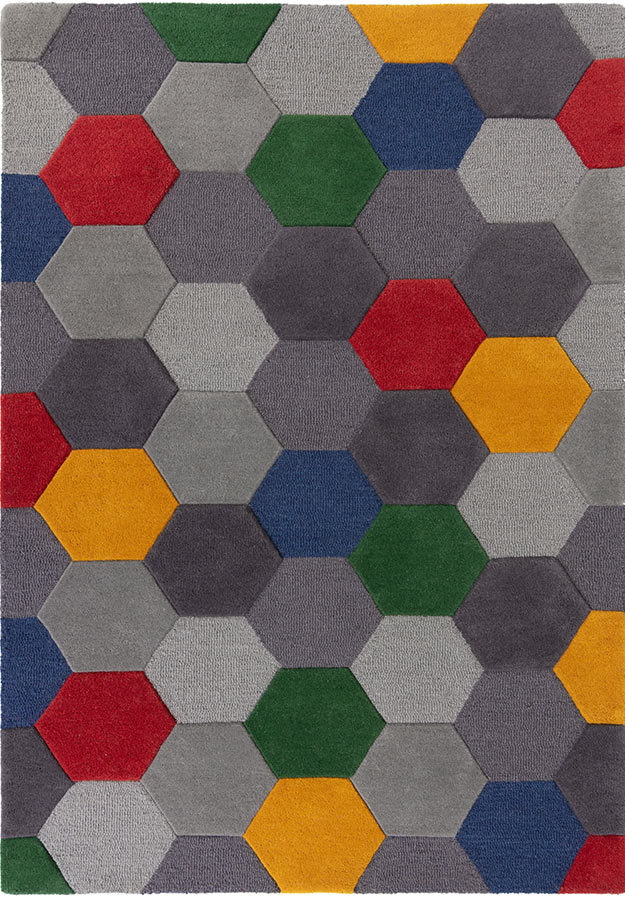 Moderno Munro Rug Red/Yellow Multi