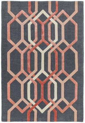 Matrix Rug Hexagon Charcoal