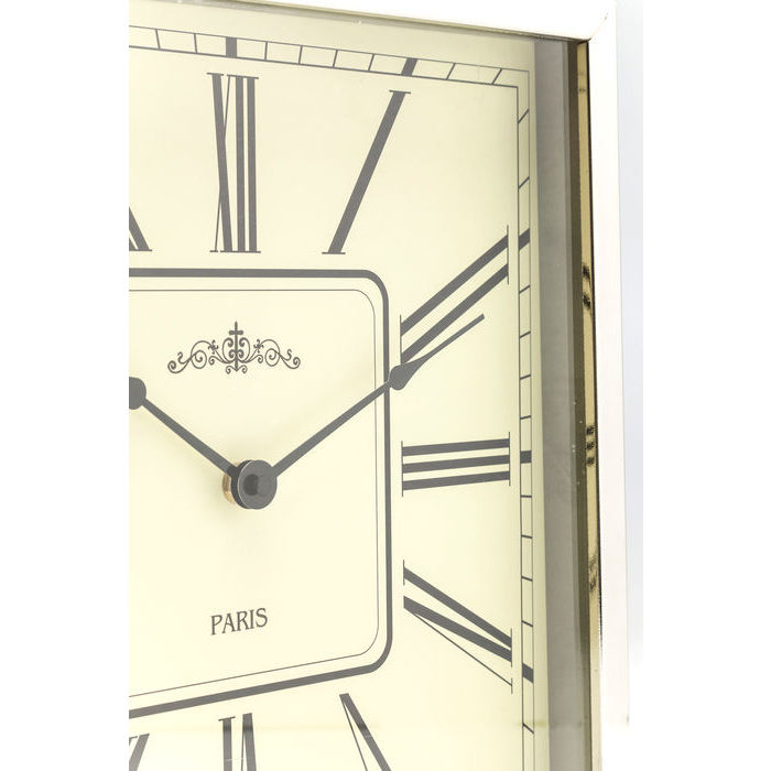 Pocket Square Silver Table Clock