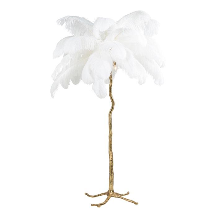 Burlesque White Floor Lamp