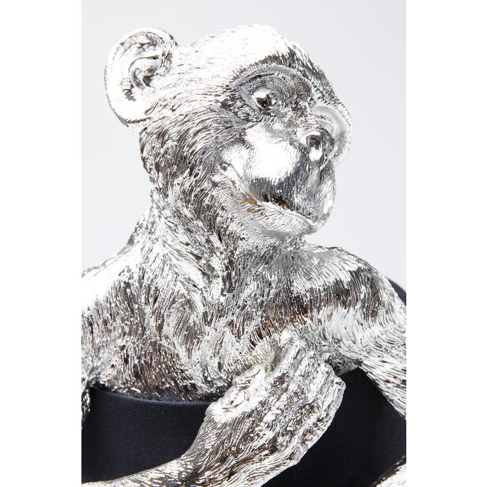 Monkey Table Lamp Silver