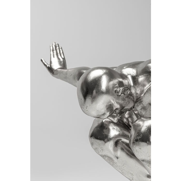 Silver Athlete Deco Object