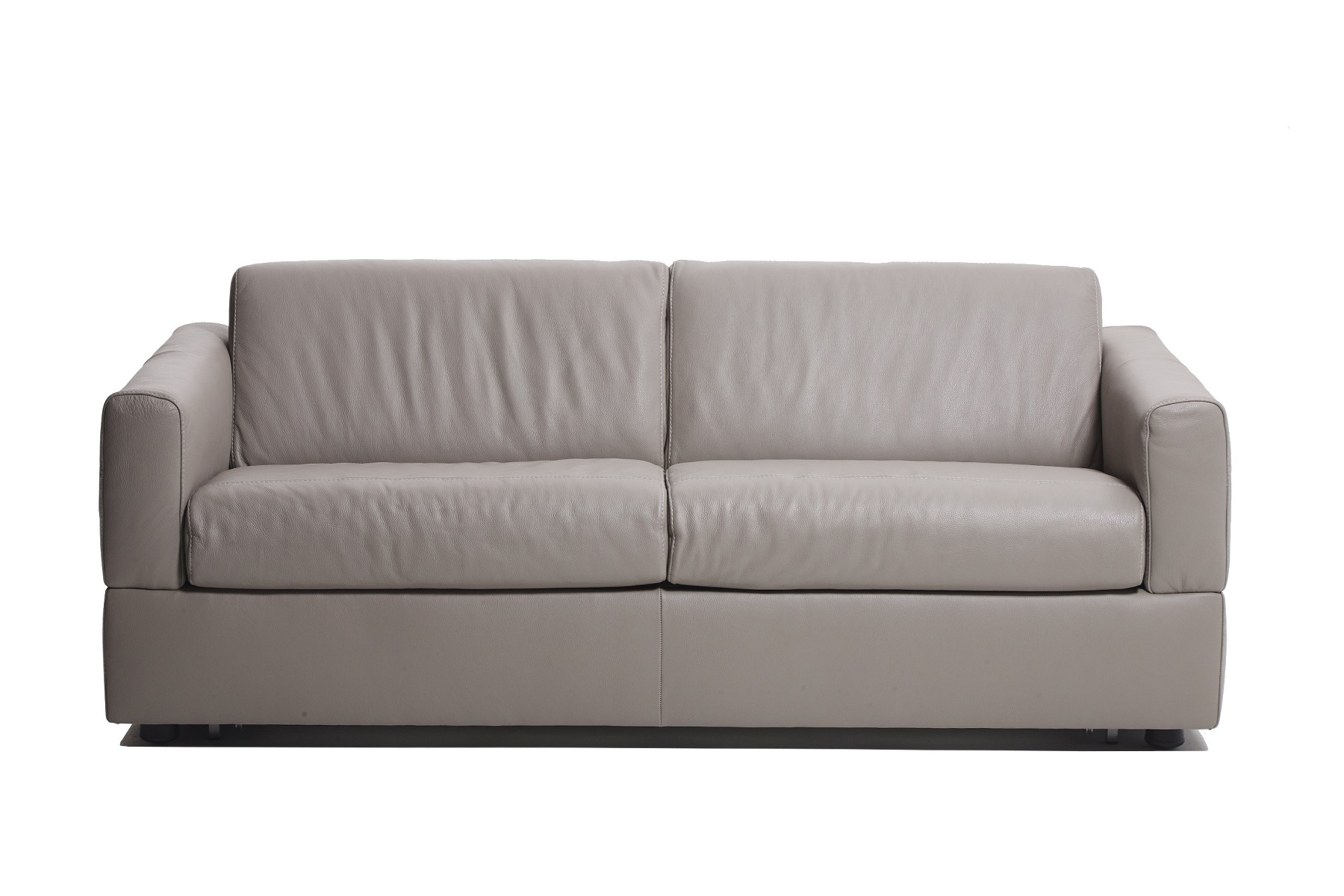 Visconti Leather Sofa Bed - Warm Grey