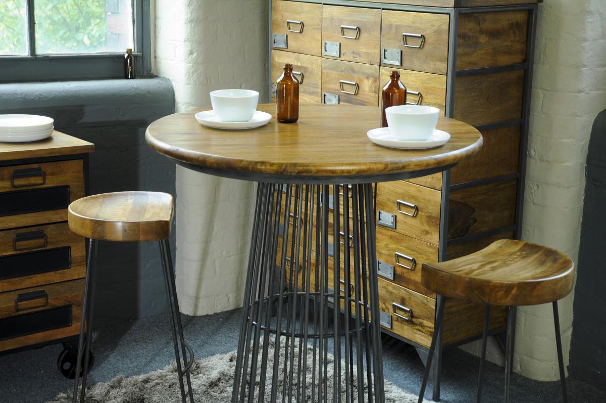 Reclaimed Birdcage Bar Table