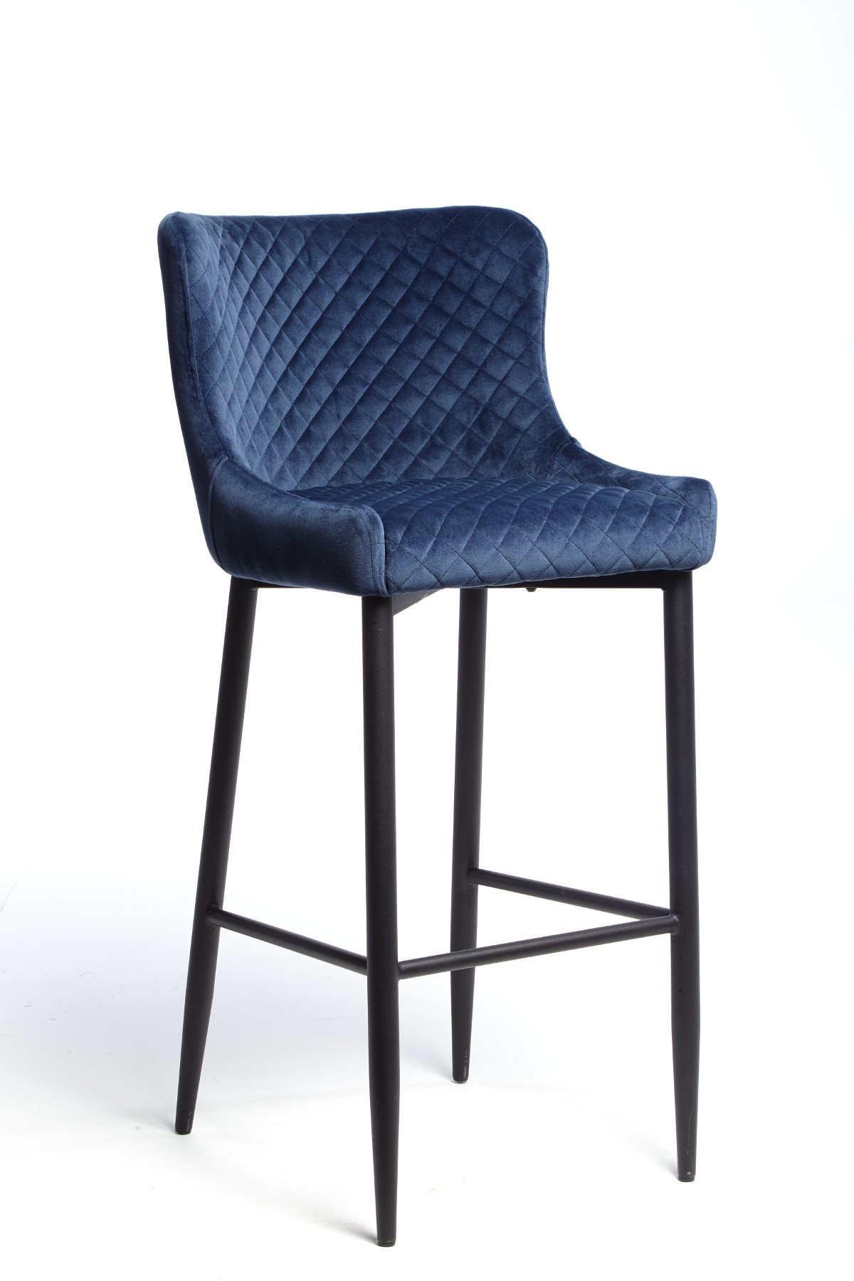 Maxwell Bar Stool (Dark Blue Velvet)