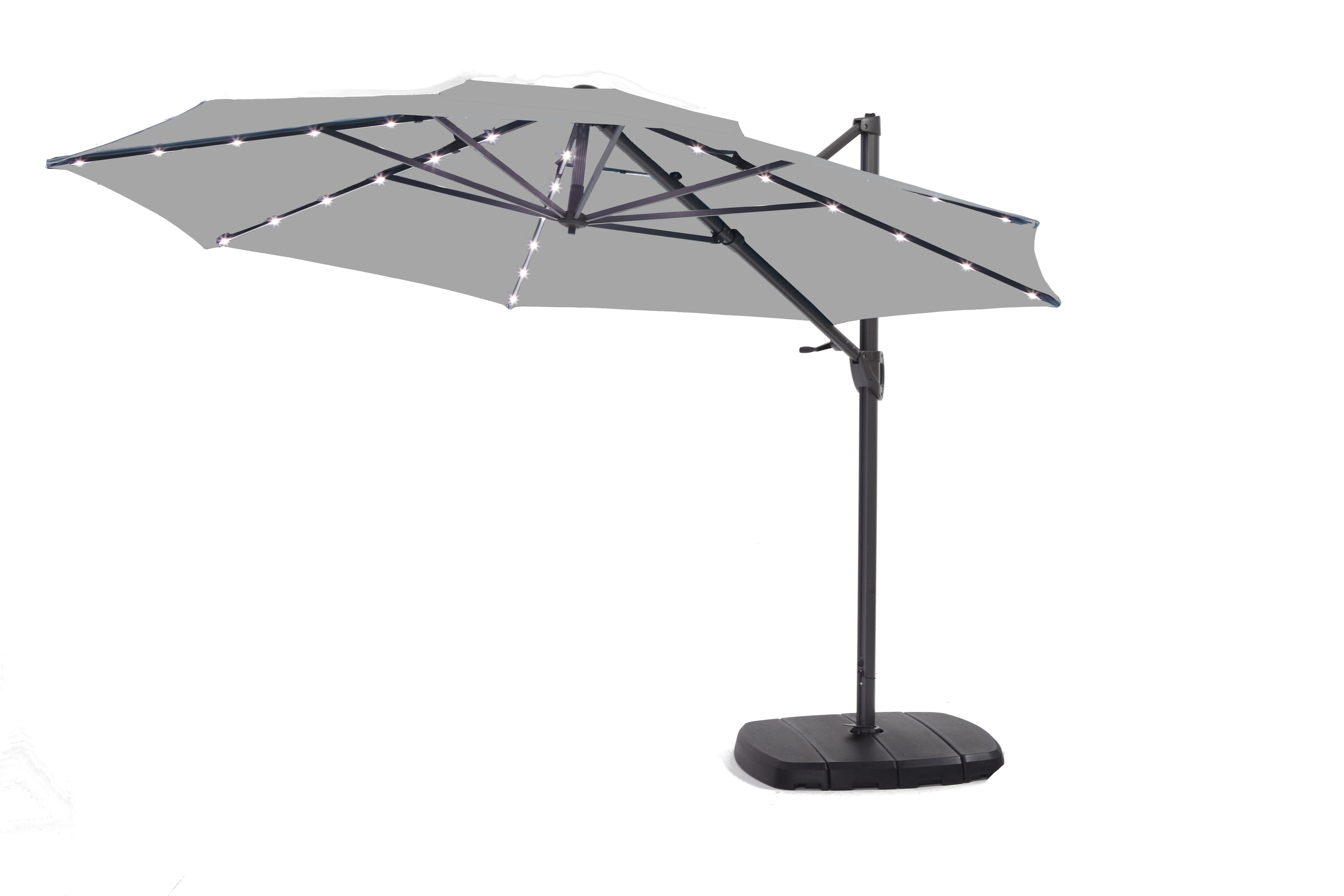 Monaco Deluxe Parasol - Grey