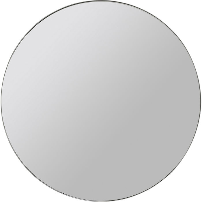 Chrome Look Circular Curvy Mirror