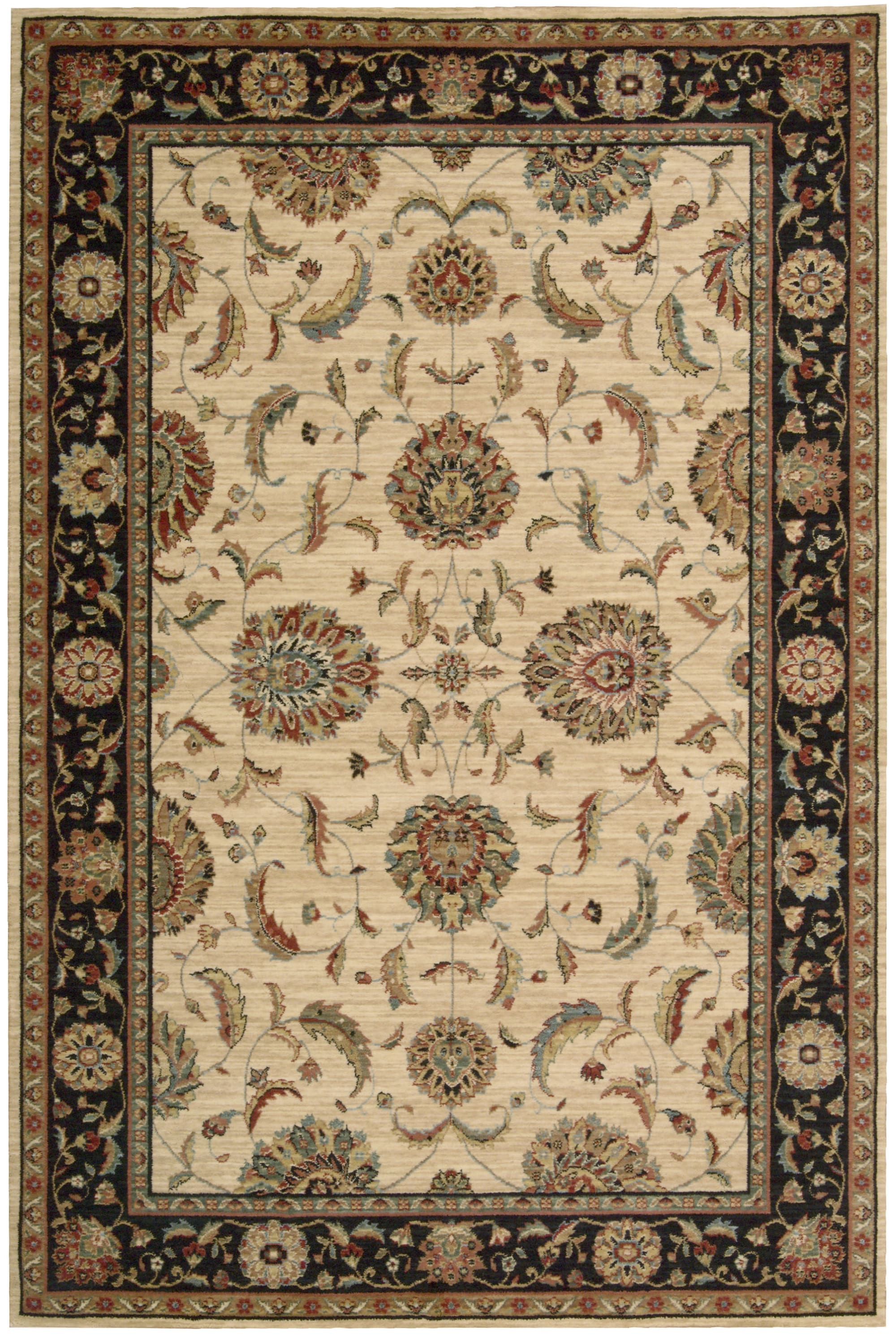Living Treasures Rug LI04 Ivory/Black