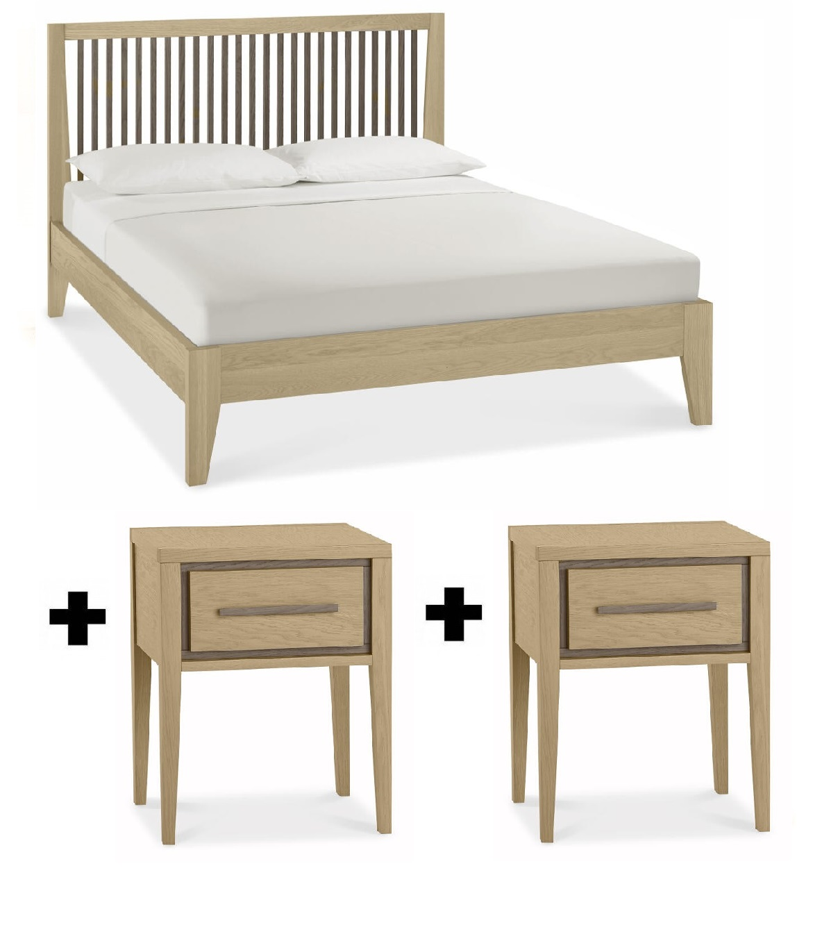 Lombardy Bedframe Plus 2 Bedsides - Bundle Deal