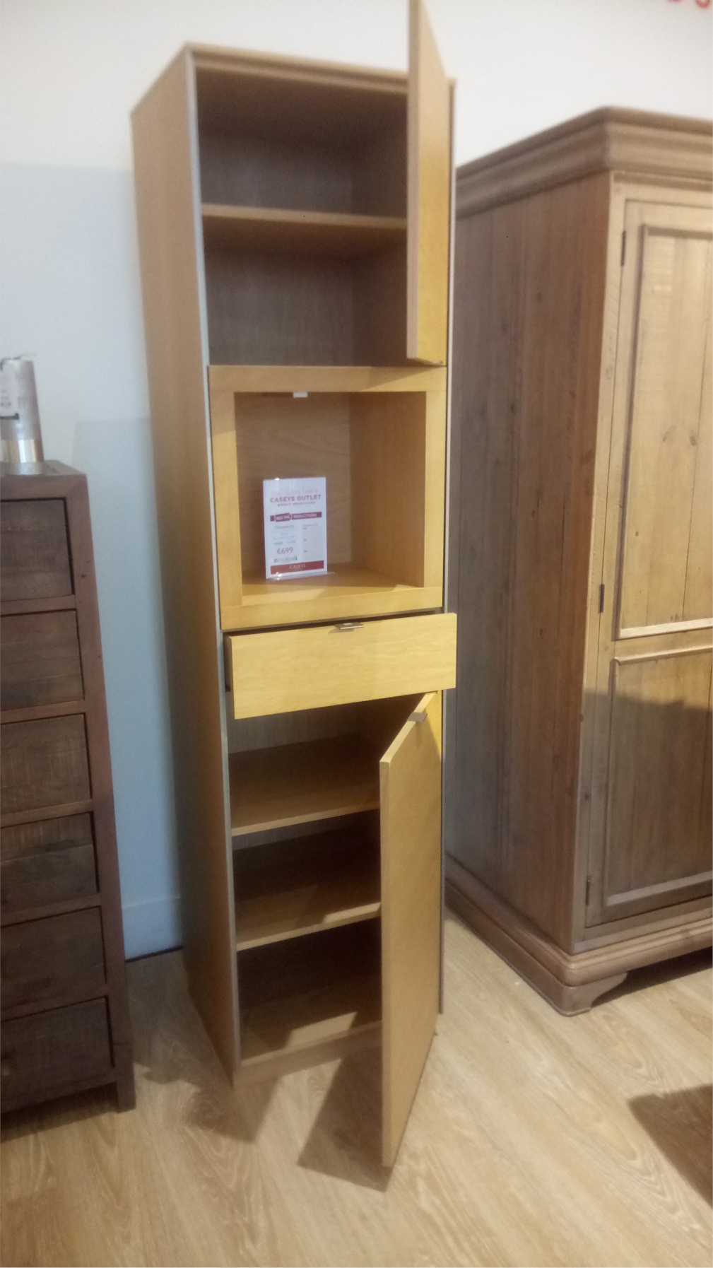 Oak Lacquer Display Cabinet