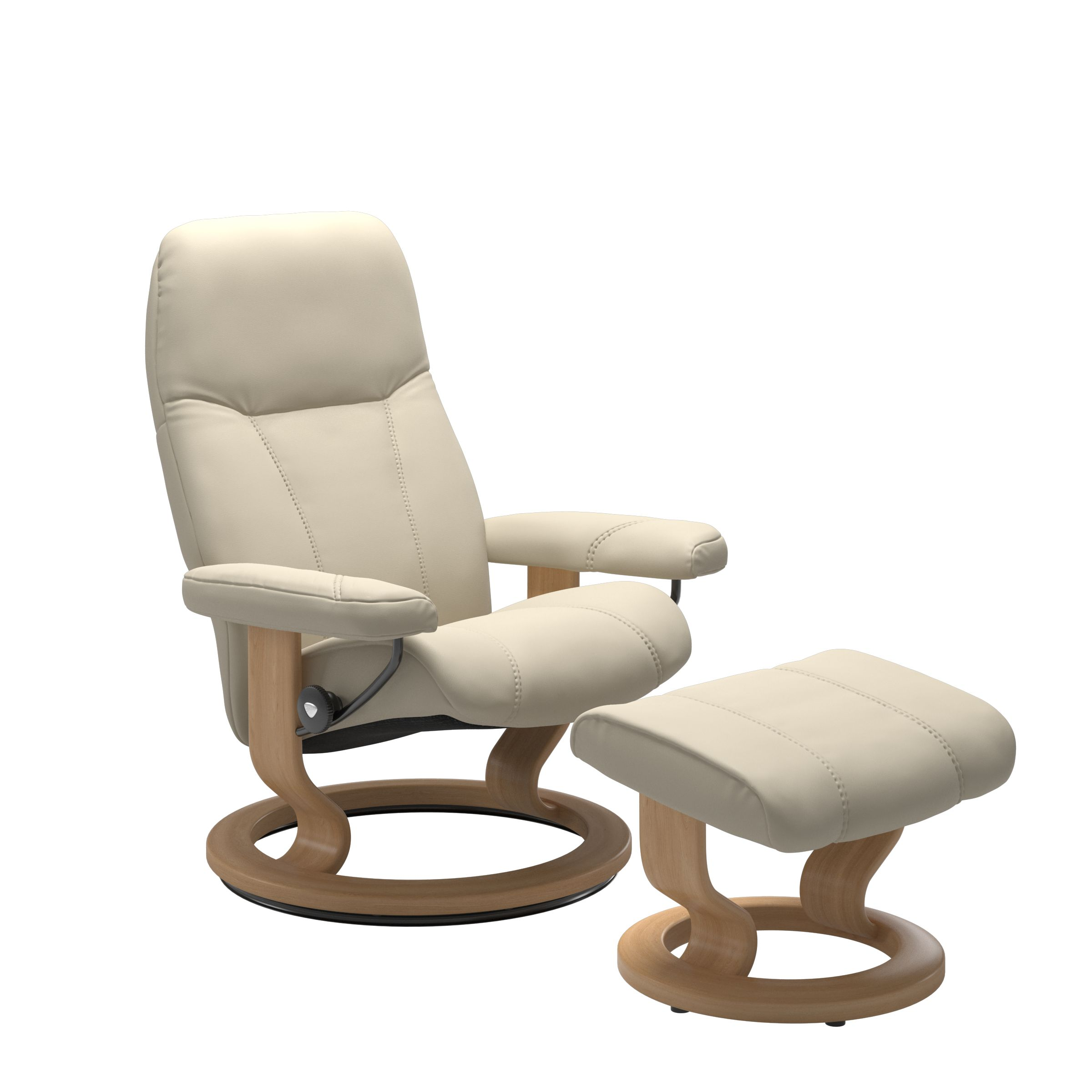 Stressless Consul Cream Medium Recliner Chair