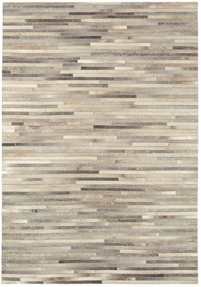 Gaucho Rug Light Grey Stripe