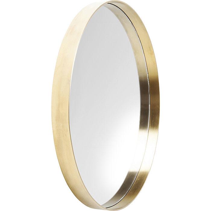 Brass Round Curve Mirror
