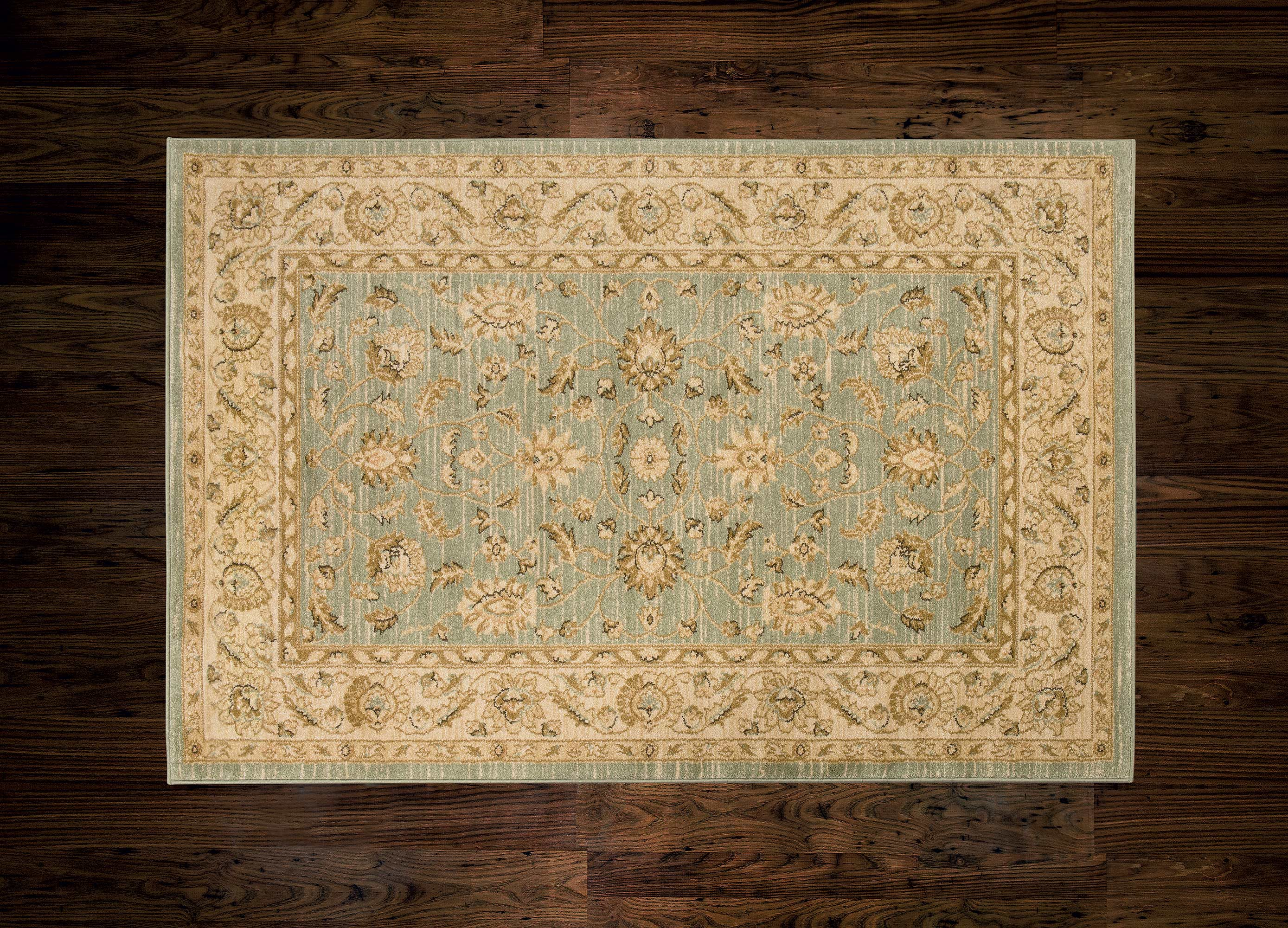 Ziegler Rug 7709 Light Green/Cream