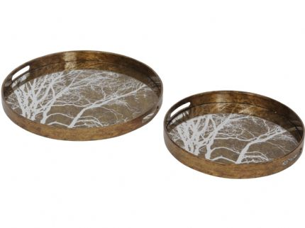 Vienna Antique Gold Tree Trays Set