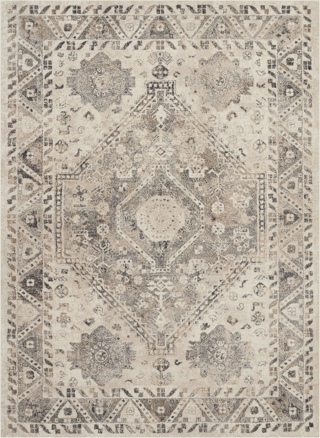 Fusion Rug FSS11 Cream Grey