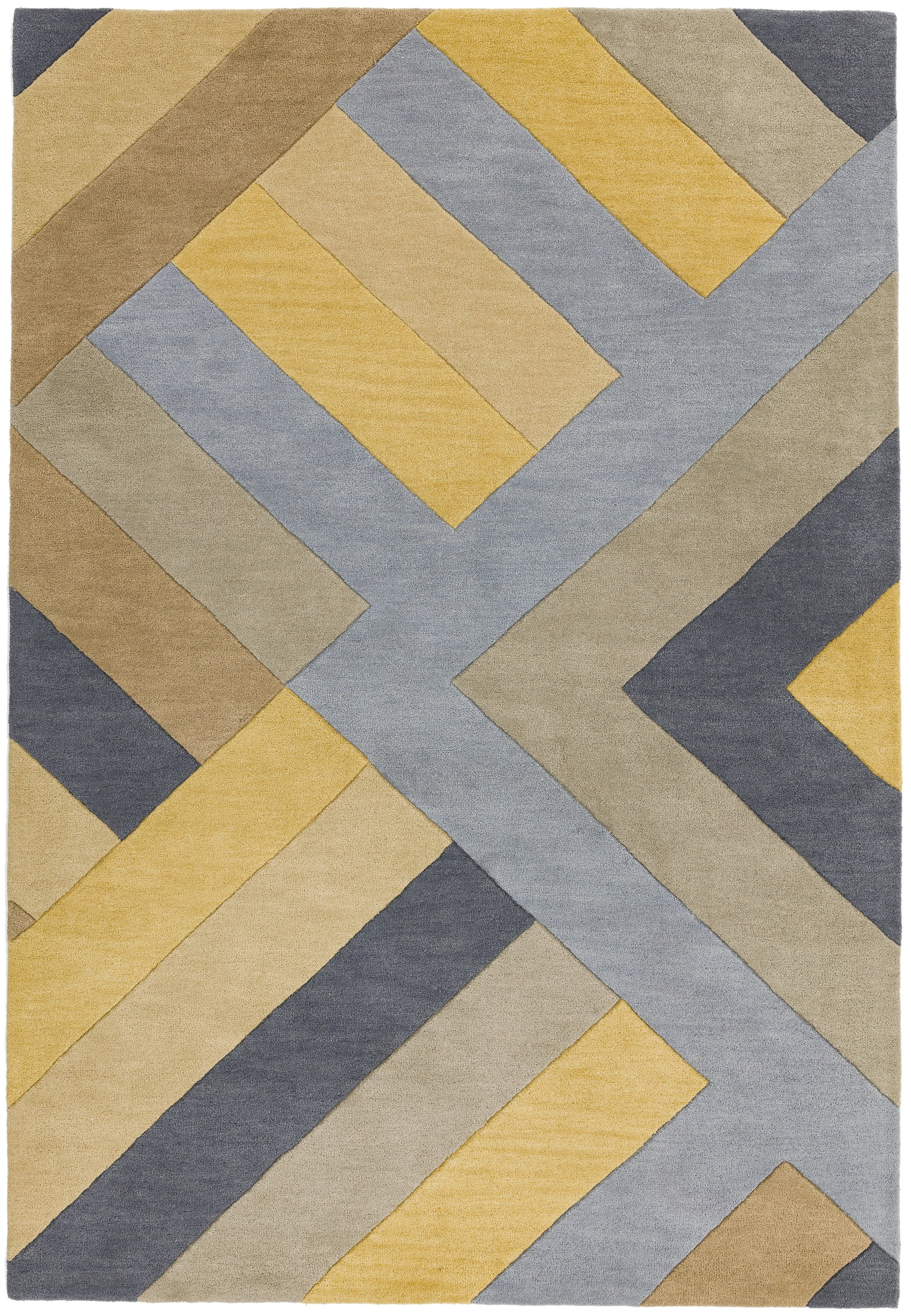 Reef Rug RF02 Big Zig Ochre Grey