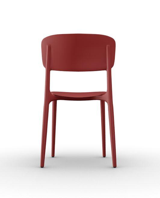 Calligaris Liberty Chair Brick Red