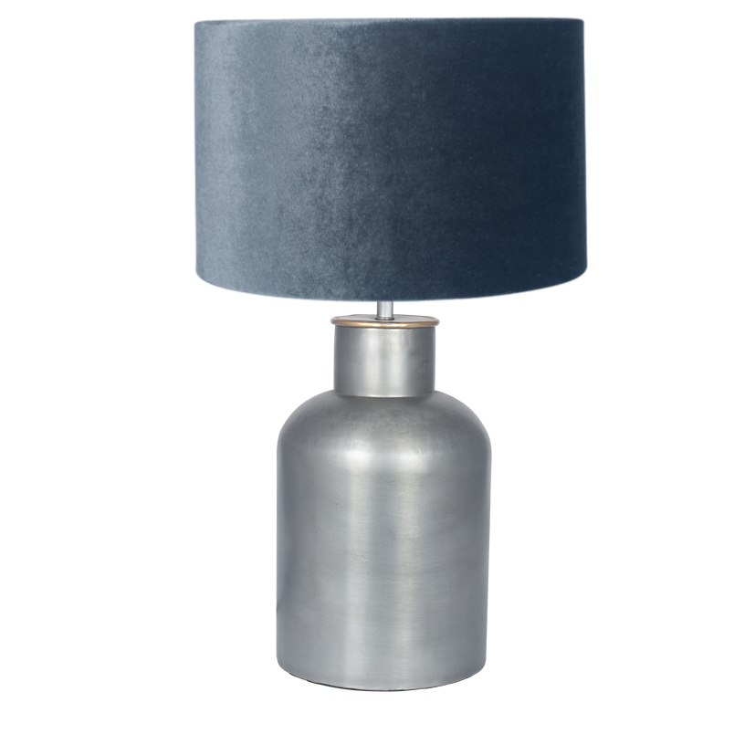 Pewter Table Lamp 40cm Shade
