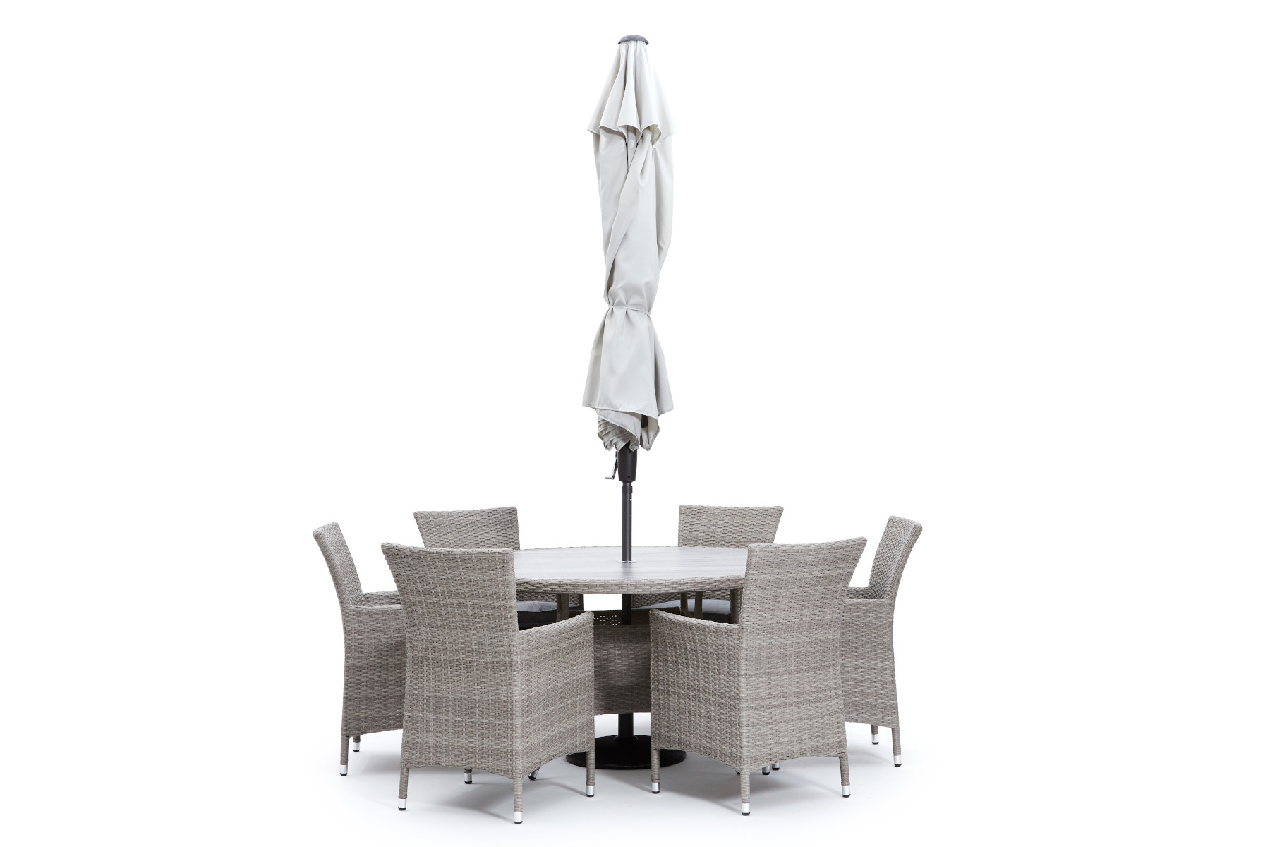 Porto 6 Seat Round Dining Set