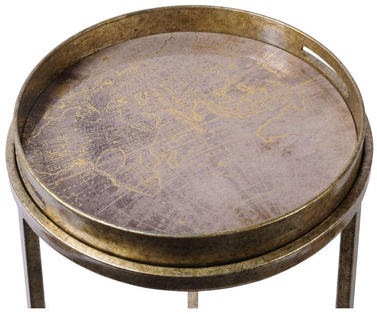 Vienna Antique Gold Atlas Side Table Set